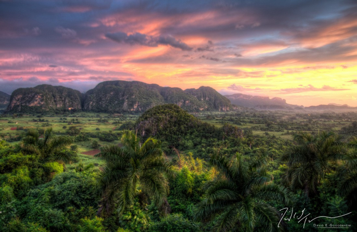 """""""Viñales at Dawn"""" - Cuba's Viñales Valley & its iconic hills known as """"mogotes."""" This is a high dynamic range (HDR) image combining 10-20 separate images."""