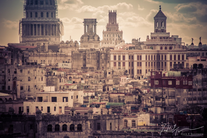 """""""La Habana Vieja"""" - A view of Havana and the Capitolio taken from across Havana Bay, revealing a vibrant city that seems frozen in time."""